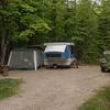 Campsite at Wild River CG Evans Notch.