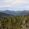 L to R Boot Spur, Mount Washington, Mount Clay, Mount Jefferson, Mount Adams and Mount Madison.