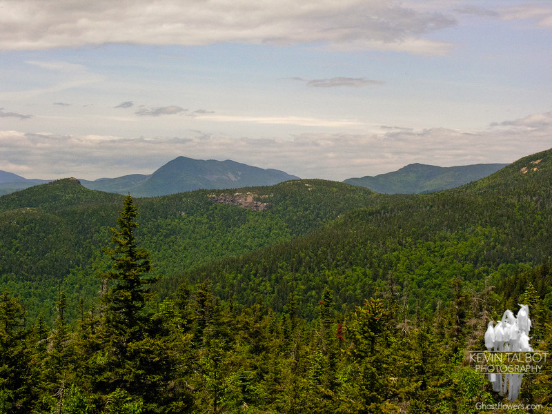 View northwest past Mount Crawford to Mounts Willey and Field (L) and Mount Webster (R).