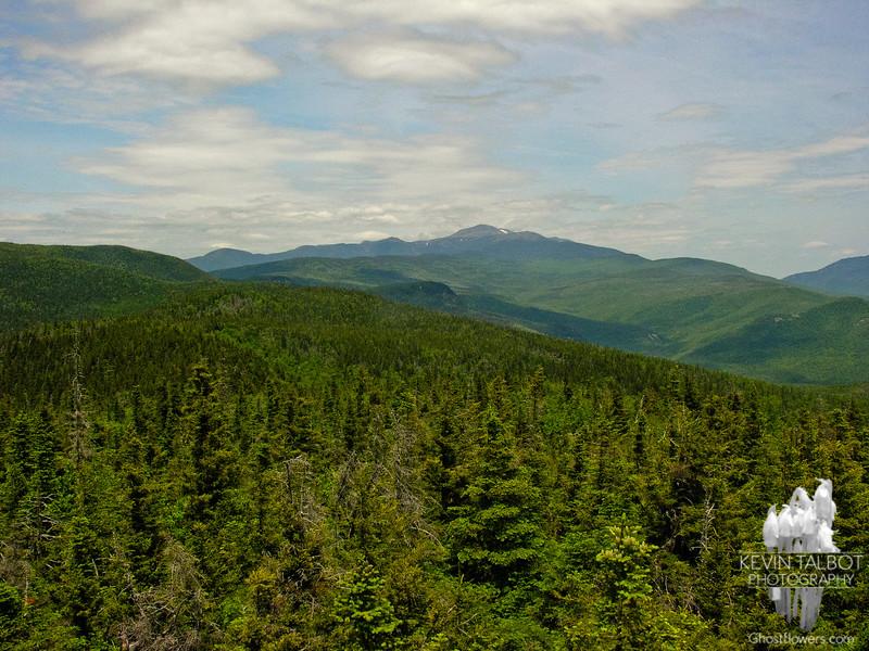 View north towards Mount Washington.