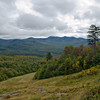 Viewpoint on ski slopes.