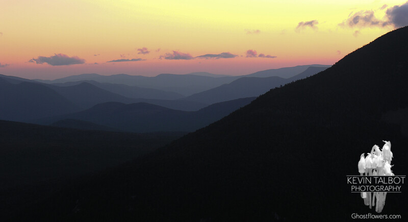 View southwest at sunset.
