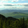 The view of Pine Mountain, the Crescent Range in the middle and the Plinys on the horizon from the ledges above Imp Shelter.