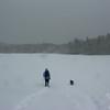 Back across Lonesome Lake.