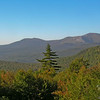 View of Eastman Mountain and South Baldface from the height of land in Evans Notch.