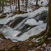 As I stepped up to photograph these falls this big chunk of ice cracked and tumbled down the falls…