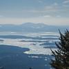 Across Lake Winnepesaukee to the Belknap Range and Gunstock Mtn. Ski Area.