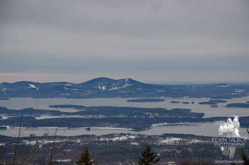 Zoom of Belknap Range and Gunstock Ski Area.