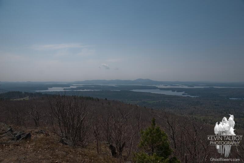 First views southwest across Lake Winnepesaukee to the Belknap Range.