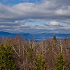 The Sandwich Range and beyond. L to R Sandwich Dome, Tecumseh, the Osceolas, the Tripyramids, Whiteface, Carrigain, Pasaconaway.