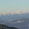 View north to the Presidentials. L to R Mounts Pierce, Franklin, the top of Mount Jefferson, Monroe and Washington.
