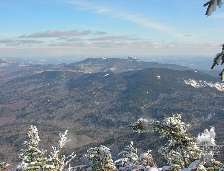 View east to Mount Chocorua. Mount Paugus is in the middle distance.