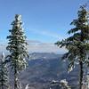 Framed view of Mount Chocorua.