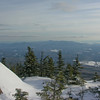 View south to the Ossipee Range from Mount Whiteface.