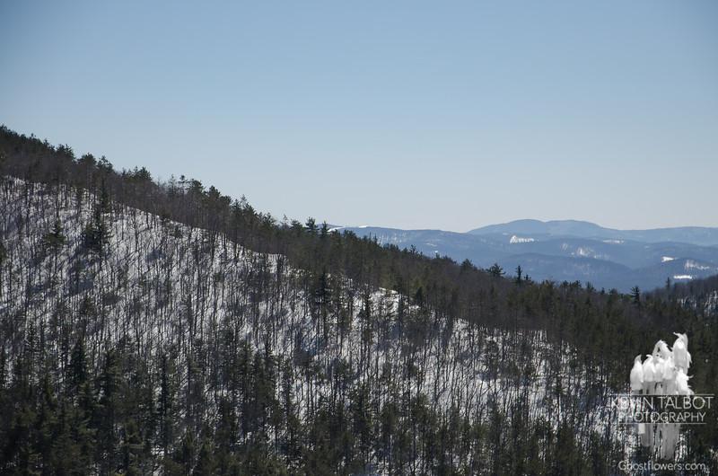 I think  the thin snow field where the far ridge meets the near ridge  is Foss Mtn.