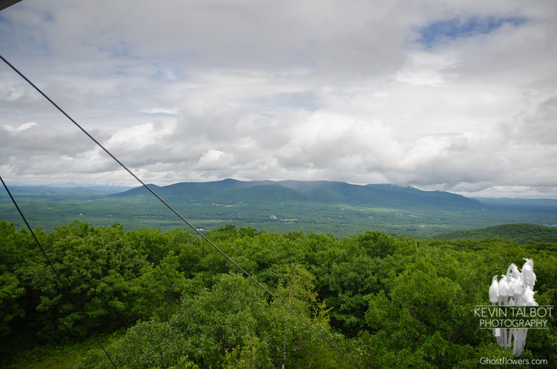 Even Mount Shaw in the Ossipee range has its head in the clouds.