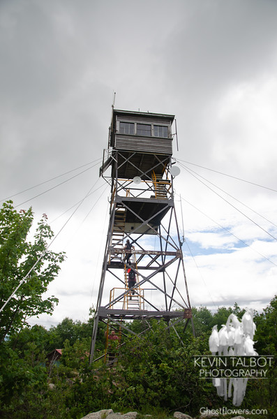 Red Hill's Fire Tower... The last time we stood here we were in an open field...