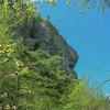 Cliffs above Blue Brook along the Basin Trail.
