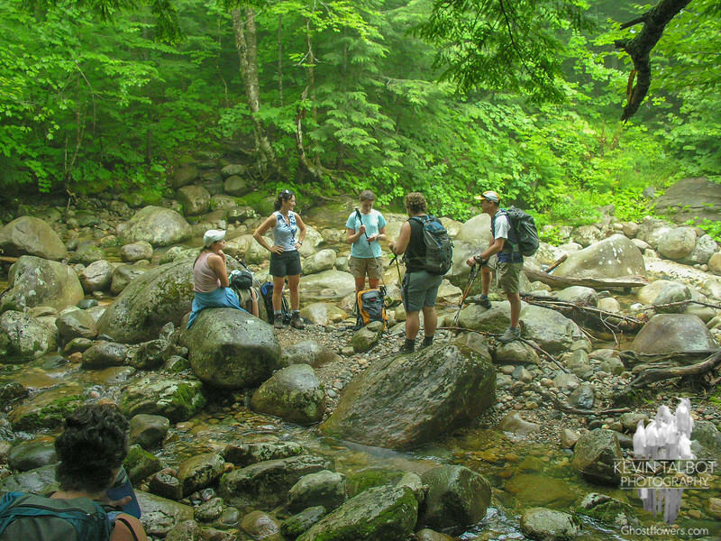 Regrouping at the river crossing.