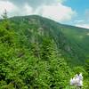 View of Mount Moriah's east ledges vertical.