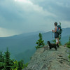 Looking out over the Wild River Wilderness.