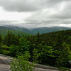 Low clouds hang over Evans Notch.