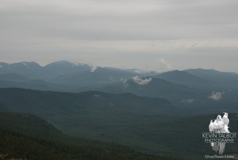 View towards Carter Notch (L) and Evans Notch (R).