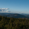 1st view from summit, looking north towards Caribou Mtn.