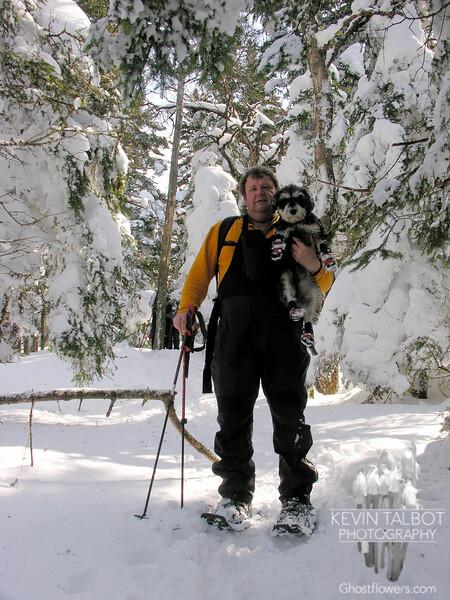 Tom and Atticus in winter wonderland.