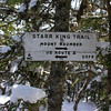 Trail sign on Mount Starr King.