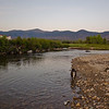 Sunset dip in the Ammonoosuc River.