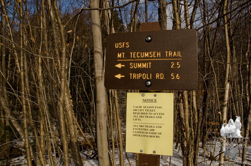 New Trailhead sign.