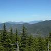 Northwest over Scar Ridge to Franconia Ridge and the Pemi nd Twins/Bonds.