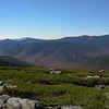 View west from Mount Guyot to Owl's Head and beyond to Franconia Ridge.