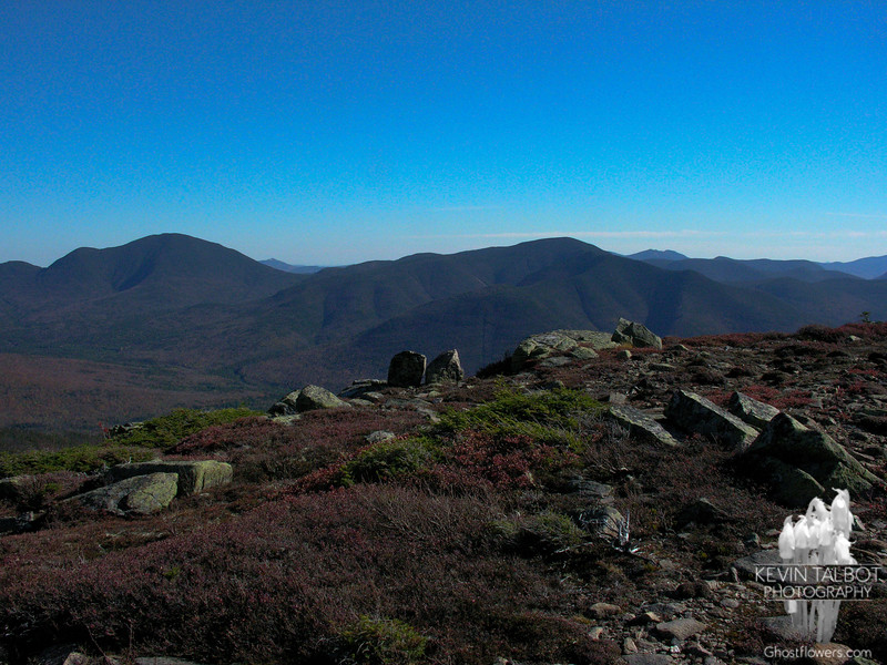 View southeast to Mount Carrigain and Mount Hancock.