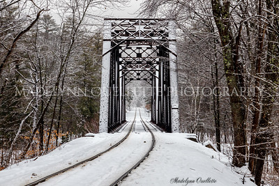 Train Trestle in Snow
