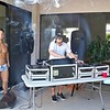 DJ Alexander spinning at the Scandal Pool Party.