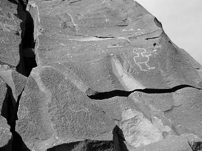 Petroglyph wall.