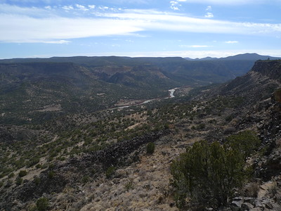 Looking south from the rim.