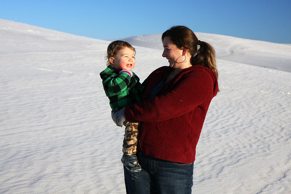 Just another one of those happiness moments at the White Sands