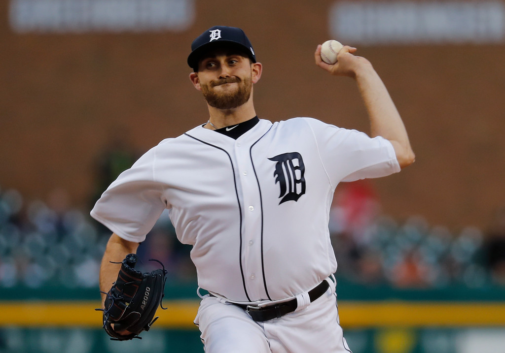 . Detroit Tigers pitcher Matthew Boyd throws against the Chicago White Sox in the first inning of a baseball game in Detroit, Friday, April 28, 2017. (AP Photo/Paul Sancya)