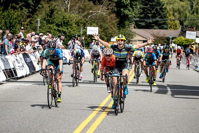 Kendell Ryan of Team Tibco takes the win, her third so far in BC Superweek. Taking the top step of the podium for all events of the Tour de Delta.