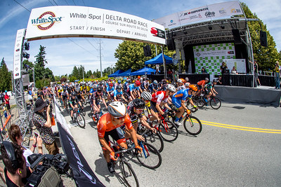 Start of the Pro Men's race. White Spot | Delta Road Race.