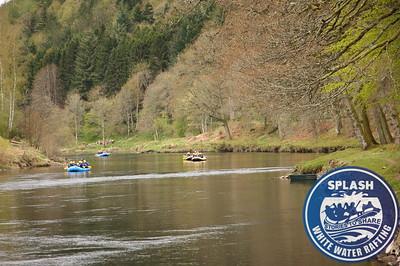 White water rafting River Tay Aberfeldy with Splash Rafting