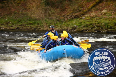 White water rafting River Tay Aberfeldy with Splash Rafting