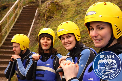 White Water Rafting River Tay Aberfeldy Scotland With Splash