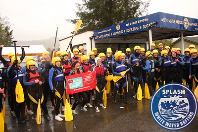 White water rafting for charity with Splash