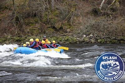 White water rafting Aberfeldy Scotland with Splash Rafting