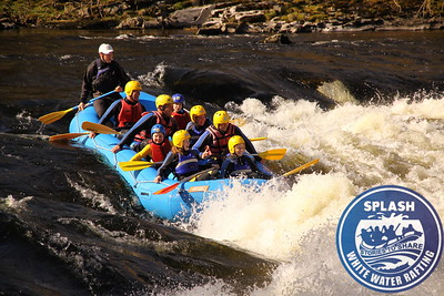 White Water Rafting Scotland Aberfeldy Perthshire with Splash Rafting