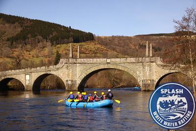 White Water Rafting Scotland Aberfeldy Perthshire with Splash Rafting